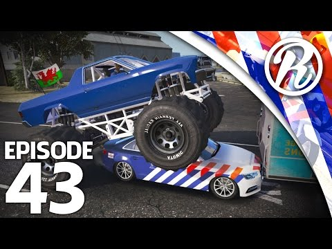 [GTA5] MONSTER TRUCK RIJDT OVER MIJ HEEN!! - Royalistiq | Nederlandse Politie #43