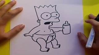 Como dibujar a Bart simpson paso a paso 4 - Los Simpsons | How to draw Bart 4 - The Simpsons