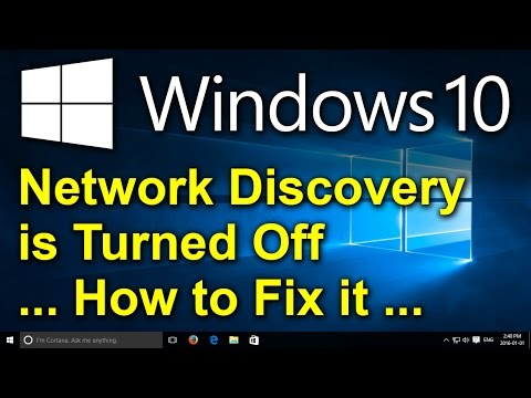 Windows 10 - Network discovery is turned off. Network computers and devices are not visible.