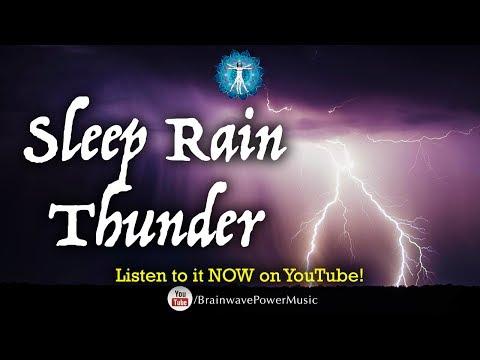 AMAZING 8 Hours of RAIN AND THUNDER -  Rain & Thunder Sounds - For Sleep -