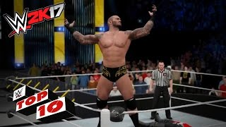 Smashing SmackDown LIVE Finishers: WWE 2K17 Top 10
