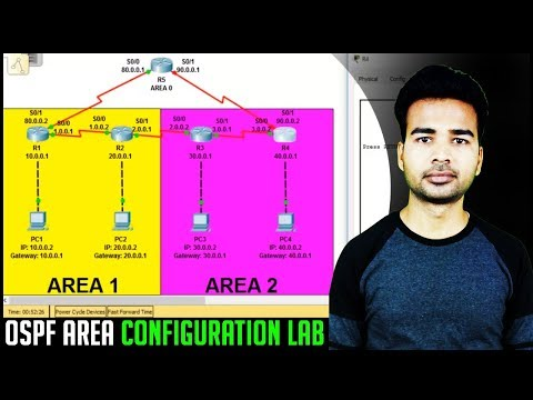 How to allow two areas in OSPF to connect | OSPF Multi Area Configuration Lab and Commands