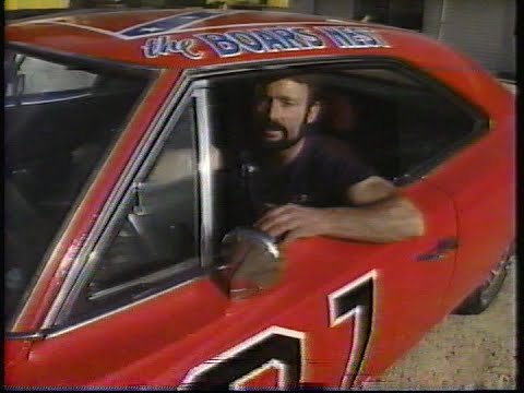 Mark Madson puts General Lee on roof of Boar's Nest (1997)