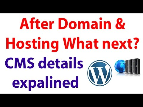 After domain and Hosting CMS should install - Content Management System Wordpress