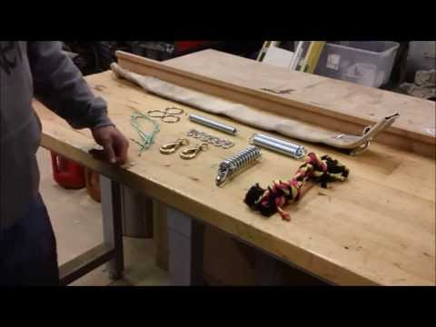 HOW TO BUILD A SPRING POLE FOR YOUR PITBULL / BULLY; MANMADE KENNELS