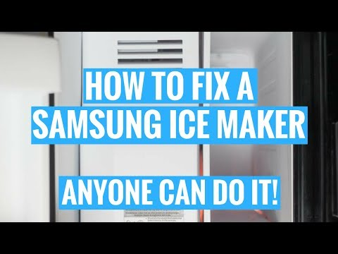 HOW TO FIX A SAMSUNG ICE MAKER | ANYONE CAN DO IT!
