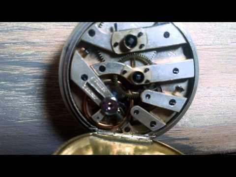 Steampunk Antique WORKING Swiss Silver Key Wind Pocket Watch Necklace