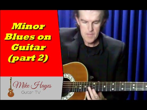 Best Way To Learn Guitar - How To Play The Minor Blues Progression On Guitar (part 2)