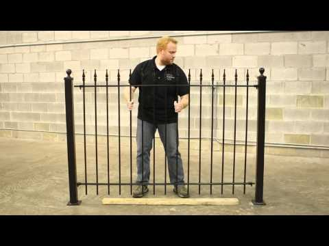 Wrought Iron Fence DIY Installation