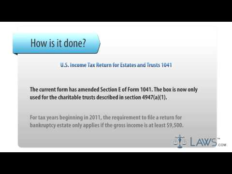 U S  Income Tax Return for Estates and Trusts 1041