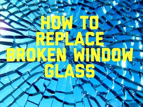 HOW TO REPLACE BROKEN WINDOW GLASS QUICK AND EASY!