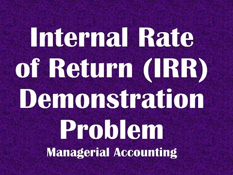 Calculating Internal Rate of Return IRR using tables Demonstration Problem