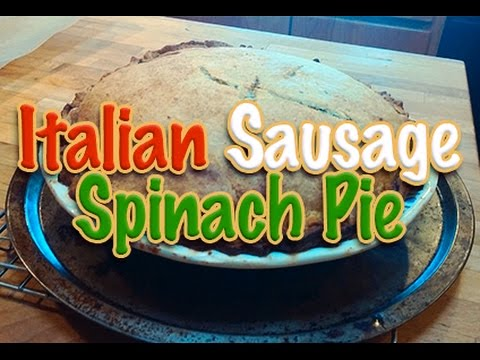 How to make Italian Sausage Spinach Pie/ Ricotta & Sausage Pie Recipe/ Italian Recipes for Dinner