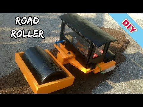 How To Make RC Double Drum Road Roller At Home DIY