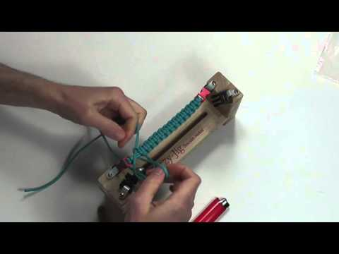 EzJig Parachute Cord and more Bracelet maker How to video