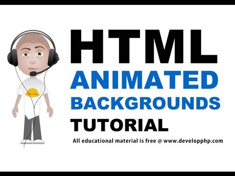 HTML Animated Backgrounds CSS Layer Position Tutorial Flash or Javascript How To