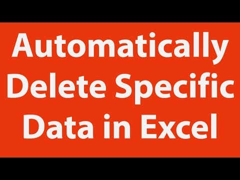 Delete Specific Data using Excel VBA
