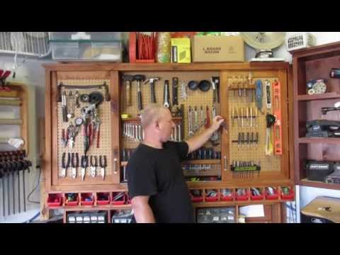 Hanging Tool Cabinet With Sliding Doors