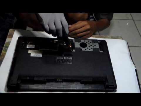 remove body and keyboard asus x452c