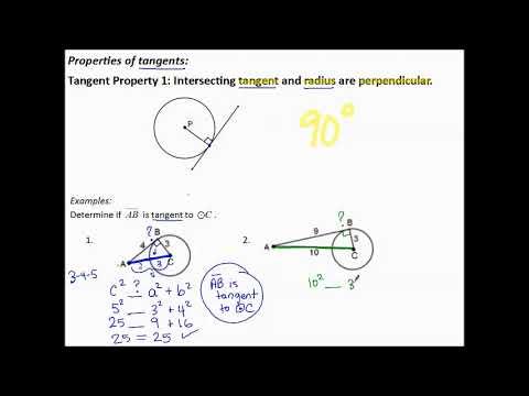 11.5l Tangent Properties