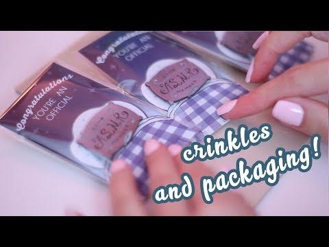 Packaging My ASMR Club Member Pins (Binaural Soft Spoken/Whispering packaging crinkles)