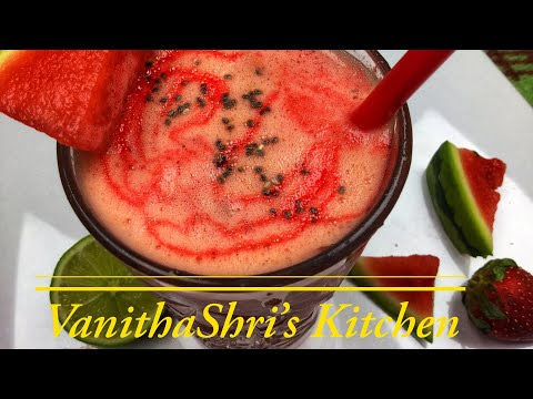 Watermelon Smoothie in Tamil | தர்பூசணி ஜூஸ் | Watermelon Smoothie