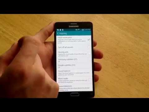Samsung Galaxy Note 4 - How to turn on / off flash notification for incoming calls