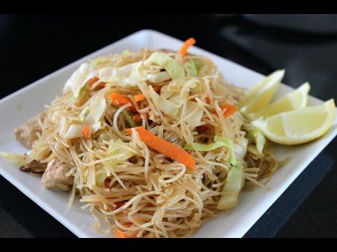 Pancit Bihon - Filipino Rice Noodle (vegan)