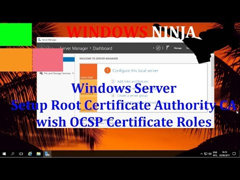 Windows Server 2016 - Setup Root Certificate Authority CA with OCSP Certificate Roles