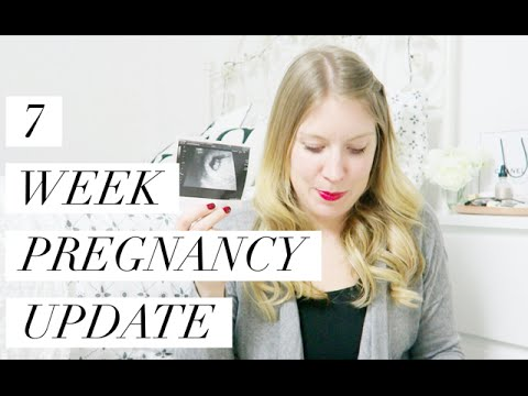 7 WEEKS PREGNANT - PREGNANCY UPDATE - THREATENED MISCARRIAGE & SCAN