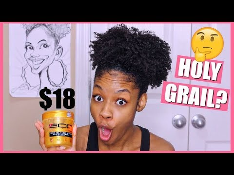 NEW Eco Styler Gold Gel on Natural Hair► Wash & Go Demo