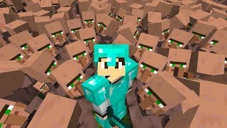 I TRAPPED 100 VILLAGERS IN MINECRAFT