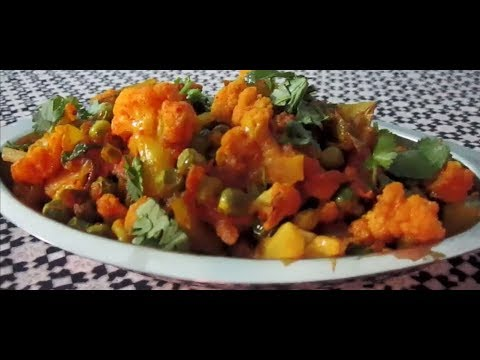 Gobhi aur matar ki jaykedar sabzi (Cauliflower peas sabji Without onion and garlic)