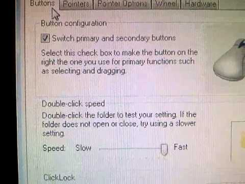 How to change mouse to left hand.