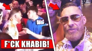 McGregor fan vs Khabib fan HEATED CONFRONTATION; Conor wants Nate Diaz trilogy for 165 title