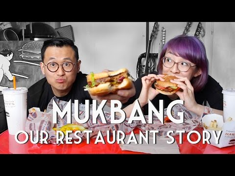VEGAN HARVEY'S MUKBANG • Our Restaurant Story