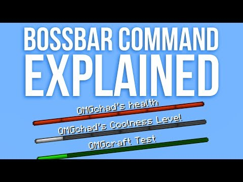 Minecraft Bossbar Command Explained - Snapshot 18w05a