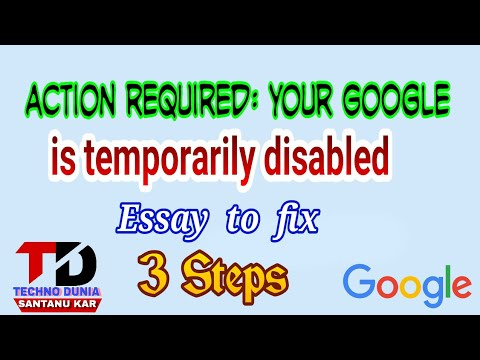 google account temporarily disabled how to fixed(Hindi/urdu)2017