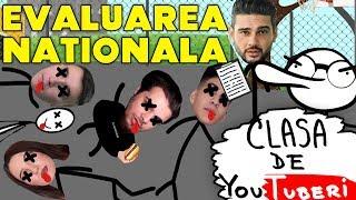 Clasa de YouTuberi - EVALUAREA NATIONALA (Parodie Animata)