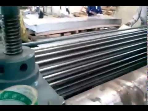 barrel corrugated sheets machine
