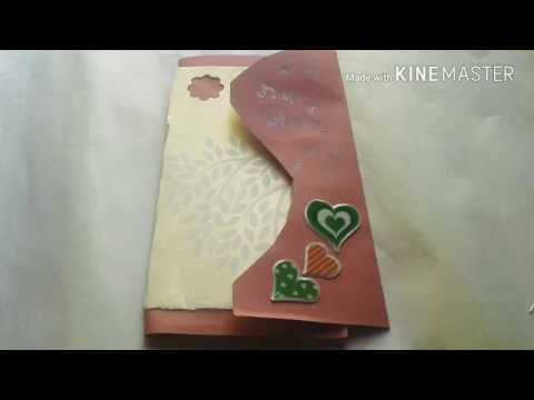 Simple. And cheap. Multi fold scrapbook card ideas for mom dad anniversary | by shareyash craft