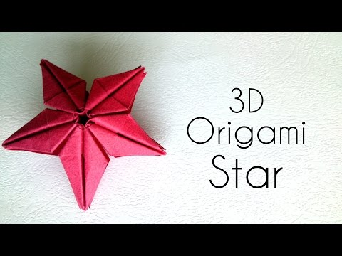 Origami 3D Star - Origami Tutorial.