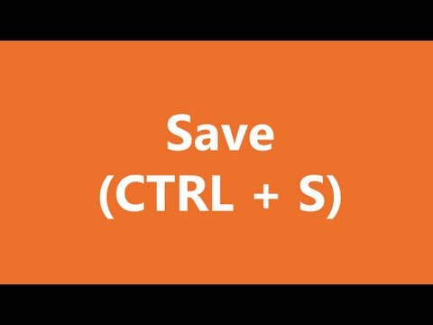 Excel Shortcuts - Save