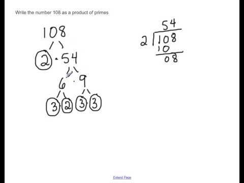 Prime factorization of 108
