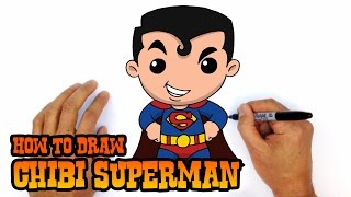 How To Draw Superman Chibi Step By Step Art Lesson