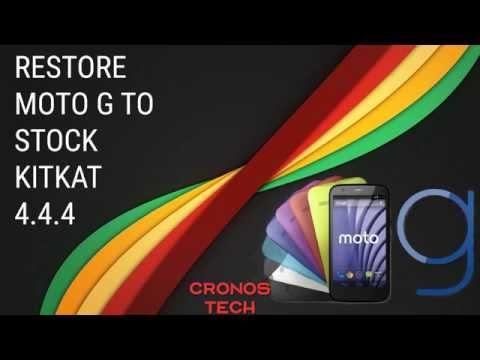 Restore Moto G XT1033 to Stock KitKat 4.4.4
