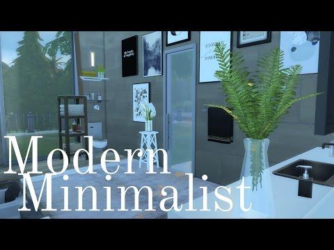 The Sims 4: Room Build - Modern Minimalist Bathroom With Sunken Bath