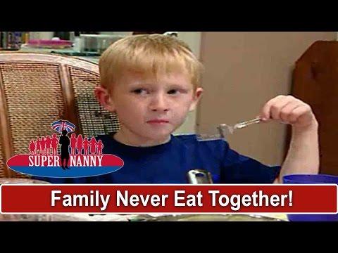 Family Never Eat Dinner Together | Supernanny