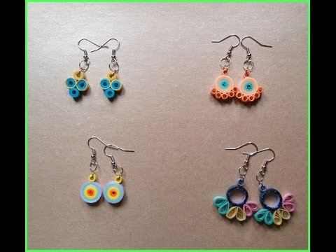 How to make paper quilling earrings in a easy way 2017 || Part 1