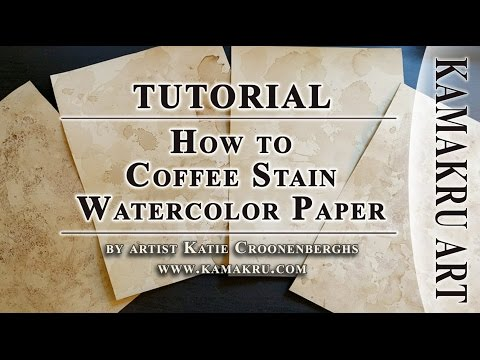 How to Coffee Stain Paper for Art Tutorial